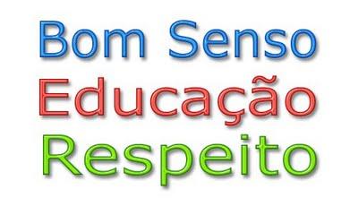 bom-senso educacao respeito